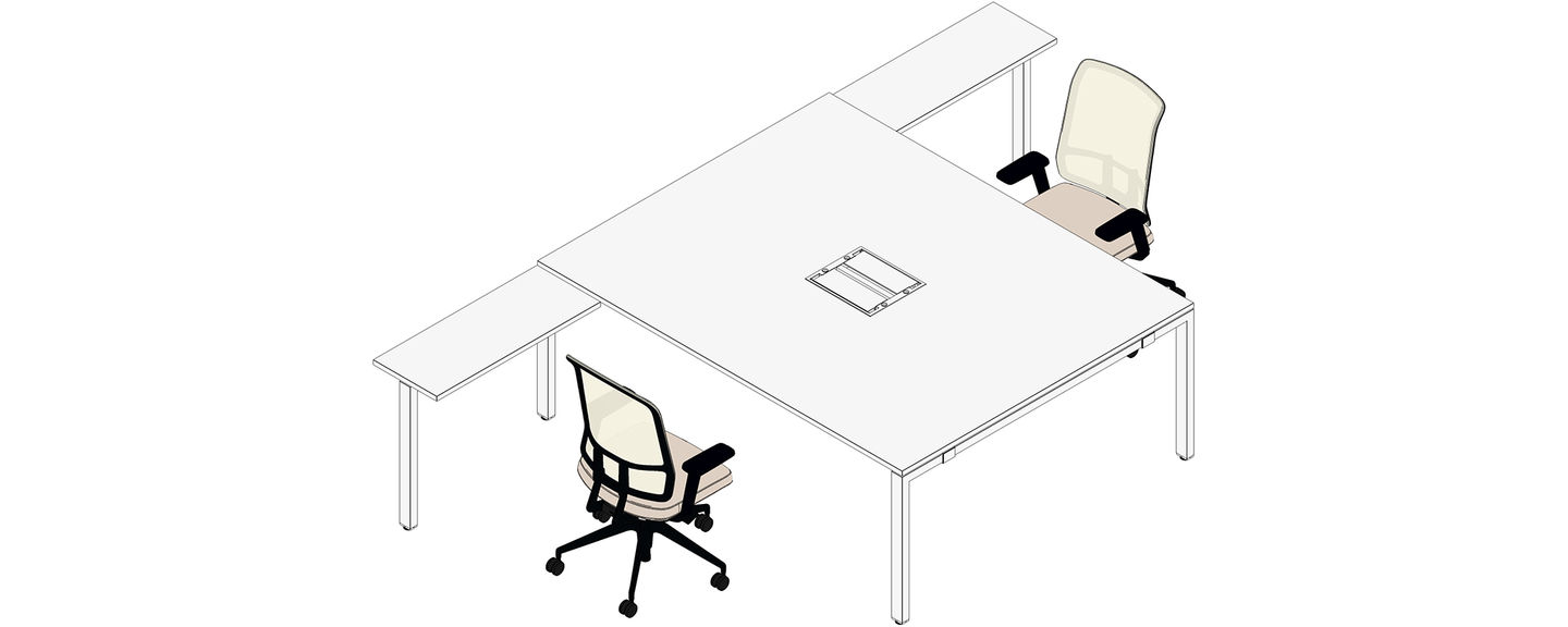 Table 200 Vitra Workit 200 X 160 Mit Return Table 80 X 40 Am Chair