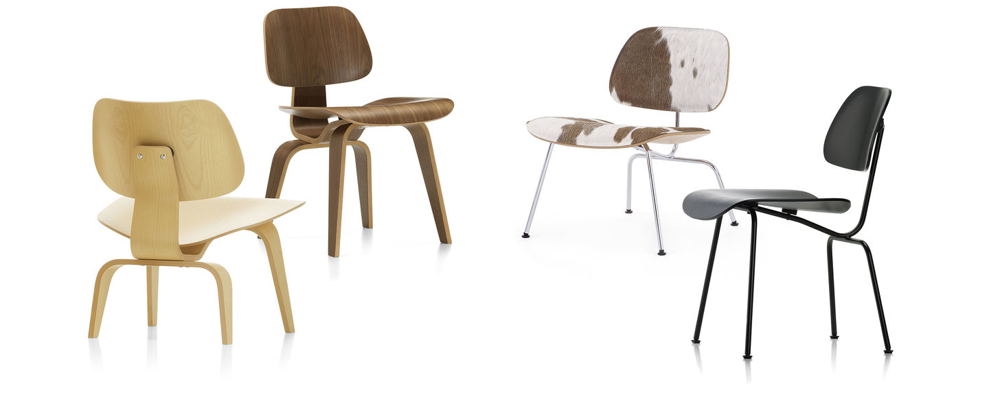 Sedia Wooden Eames Vitra Plywood Group