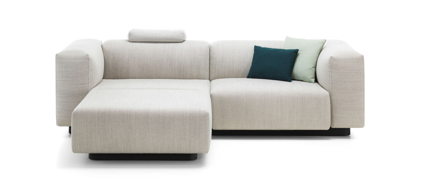Chaise Vitra Vitra Soft Modular Sofa Two Seater Chaise Longue
