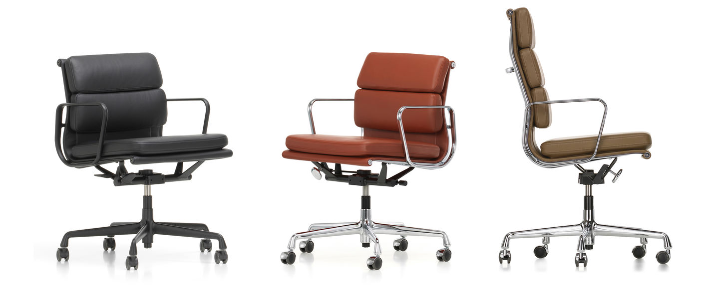 Fauteuil Cuir Vitra Vitra Soft Pad Chairs Ea 217 219