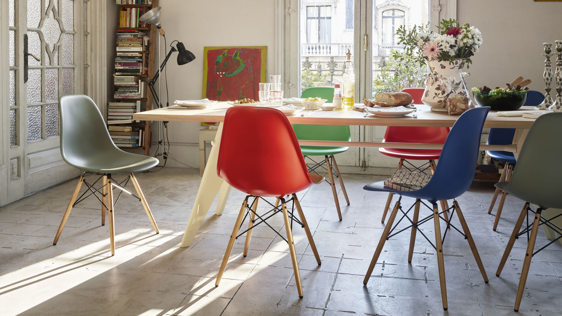 Chaise Dsw Rembourree Vitra Eames Plastic Side Chair Dsw