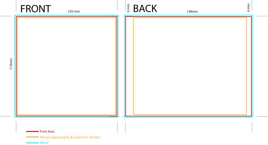 cd case design template - Selol-ink