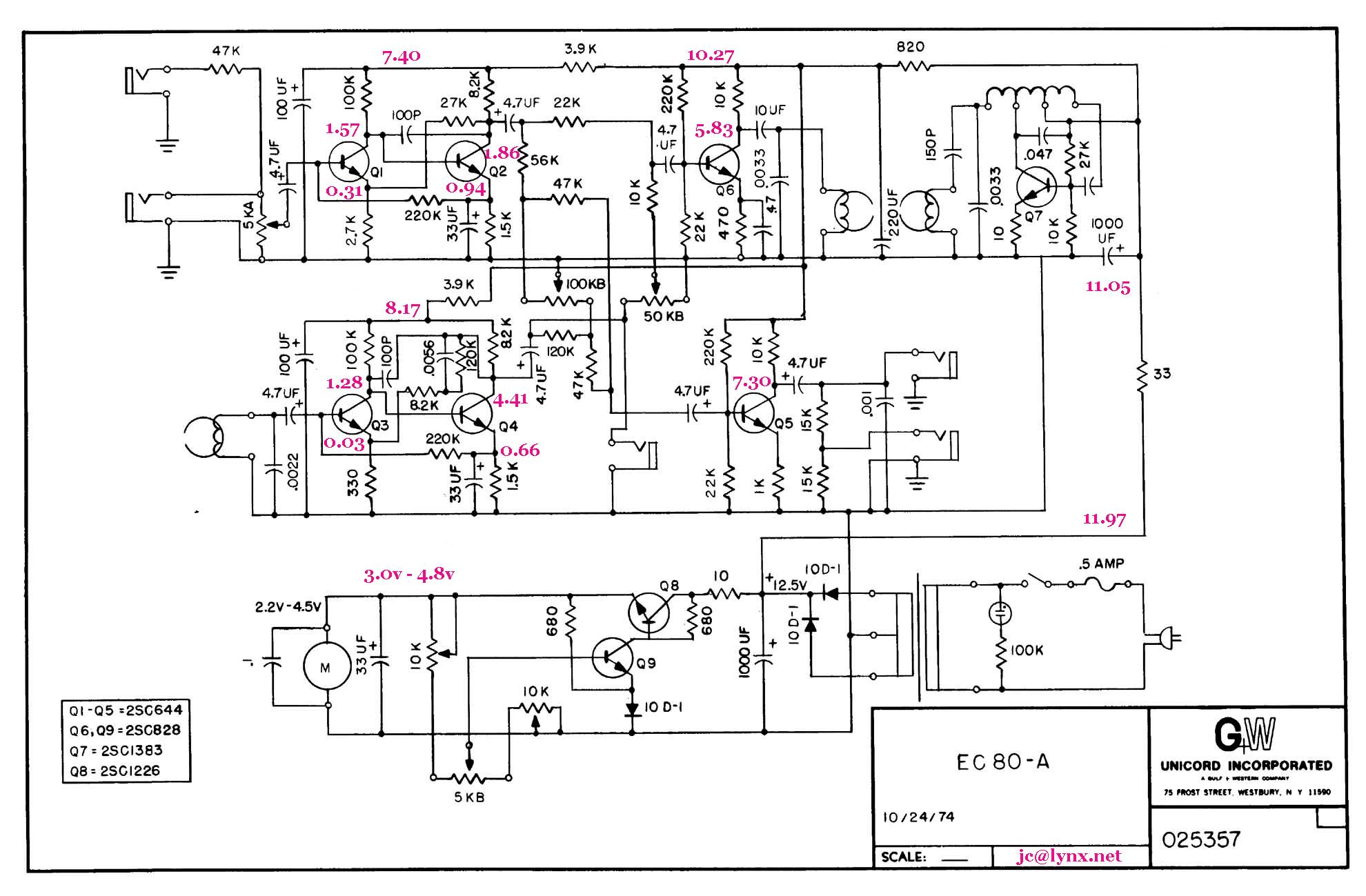 analog circuit simulation in tina
