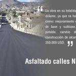 Asfaltado calles Nueva Esperanza