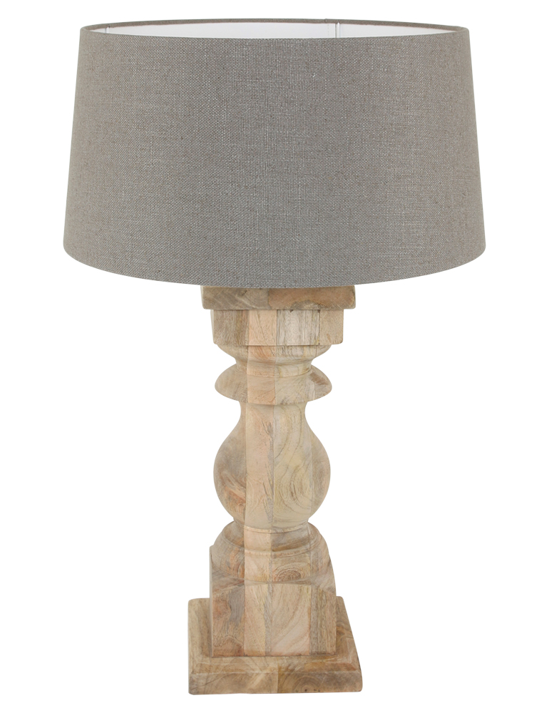 Fensterbanklampe Landhausstil Light Living Cadore Taupe - Schlafzimmer Lampe Taupe