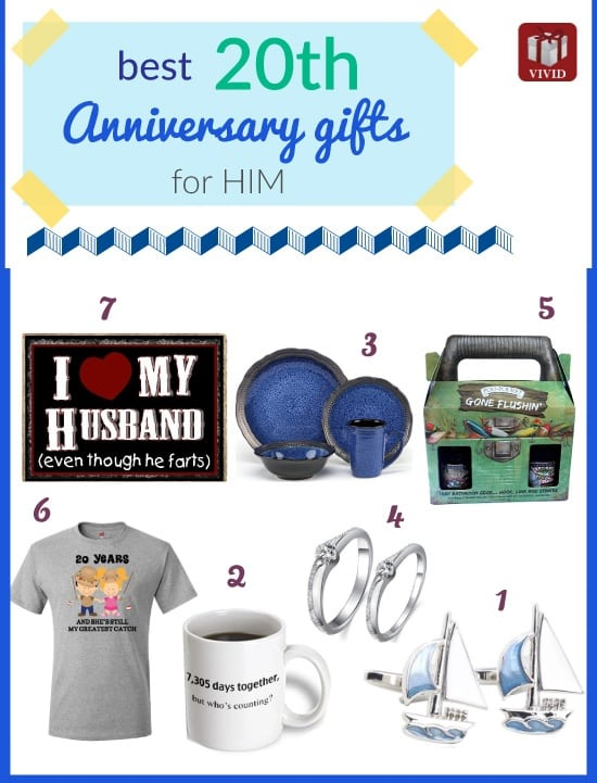 Fun Wedding Anniversary Gifts For Him : Unique 20th Anniversary Gifts for HimVivids