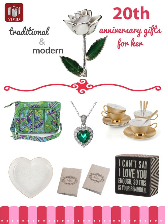 20th Wedding Anniversary Gift Ideas For Her Rustic