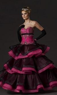 Exclusive Black and Pink Quinceanera Dress | Wedding ...