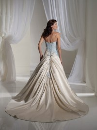 Light Blue and White Combination Wedding Dress by Sophia ...