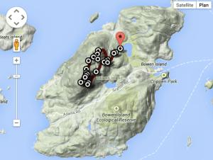 Randonnée mont gardner sur bowen island près de vancouver