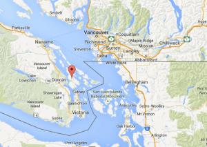 Salt Spring Island, géolocalisation depuis Vancouver