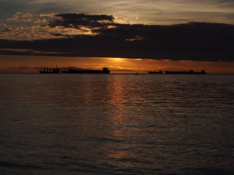 Coucher de soleil sur Vancouver, english bay. Blog voyage vancouver