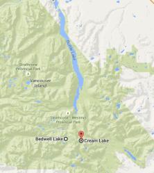 Rando Bedwell lake, strathcona park, vancouver island