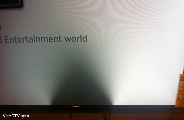 Partial backlight issue on a Vizio TV.