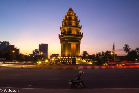 """Lights."" 2013. Independence Monument. Phnom Penh."