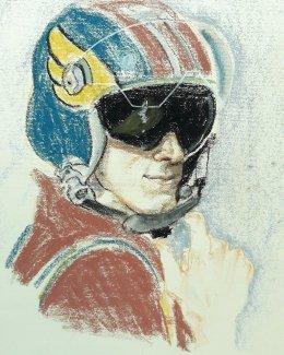 2017. Portrait of Kevin. Conte pastels.
