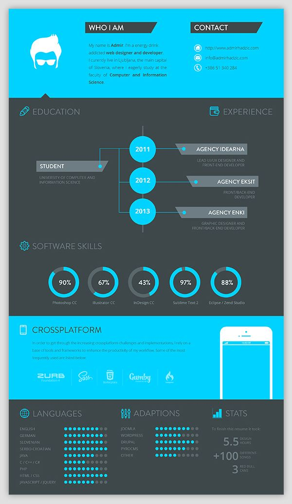 An outstanding example of creative graphic design #resume #CV