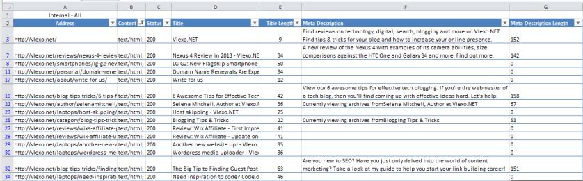 Screenshot 31 Title & Meta Optimisation using Screaming Frog