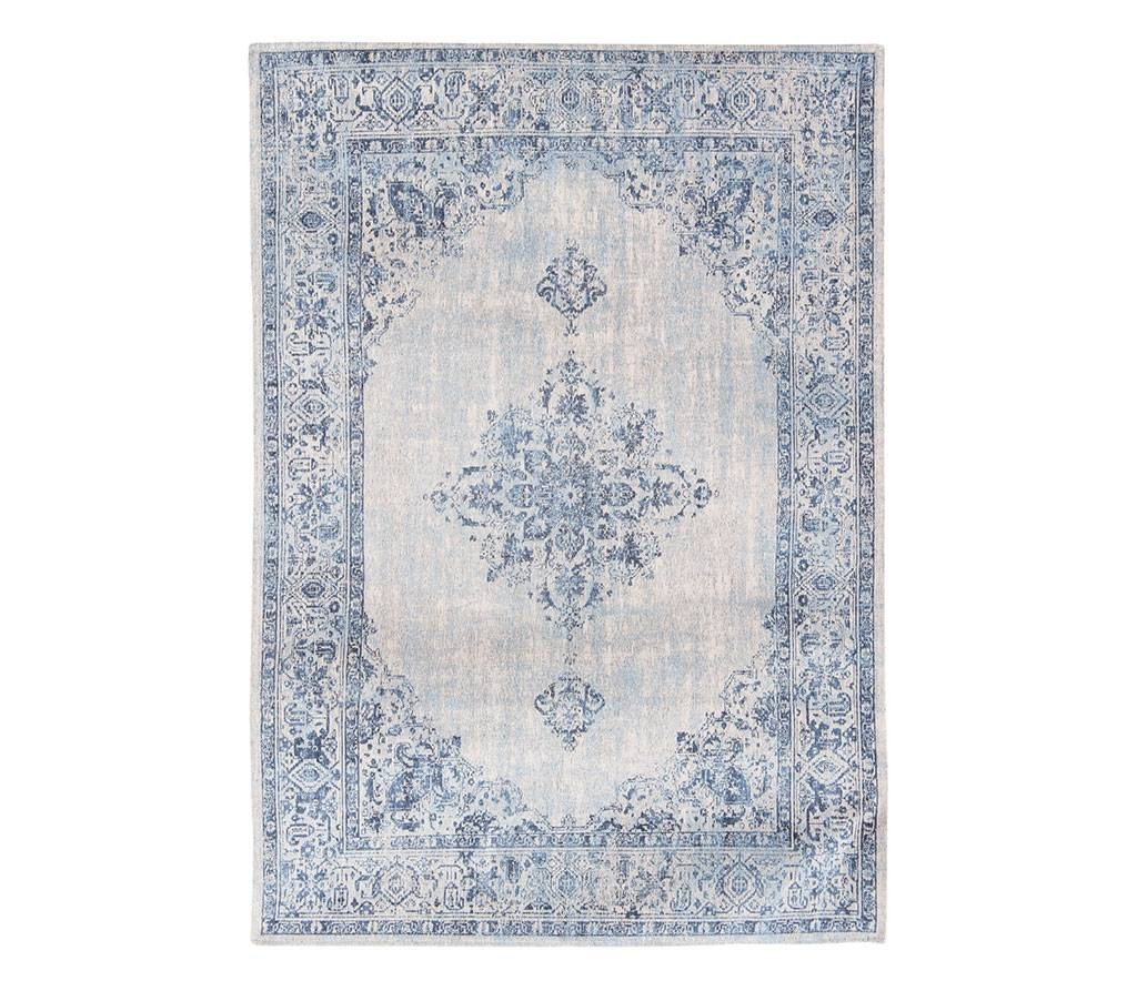 Louis De Porterre Teppiche Khayma Fairfield Blue Border 8670 Louis De Poortere