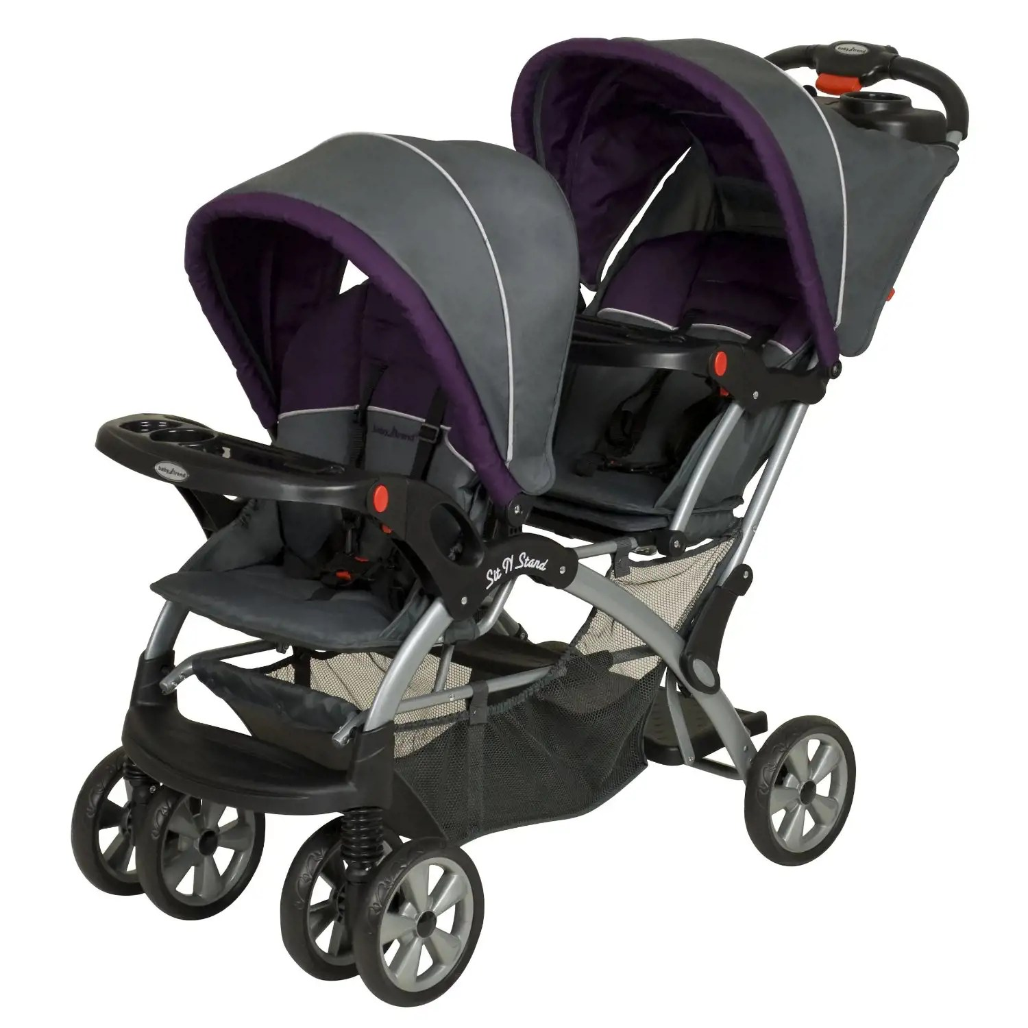Twin Stroller And Carseat Baby Trend Sit N Stand Double Stroller Elixer