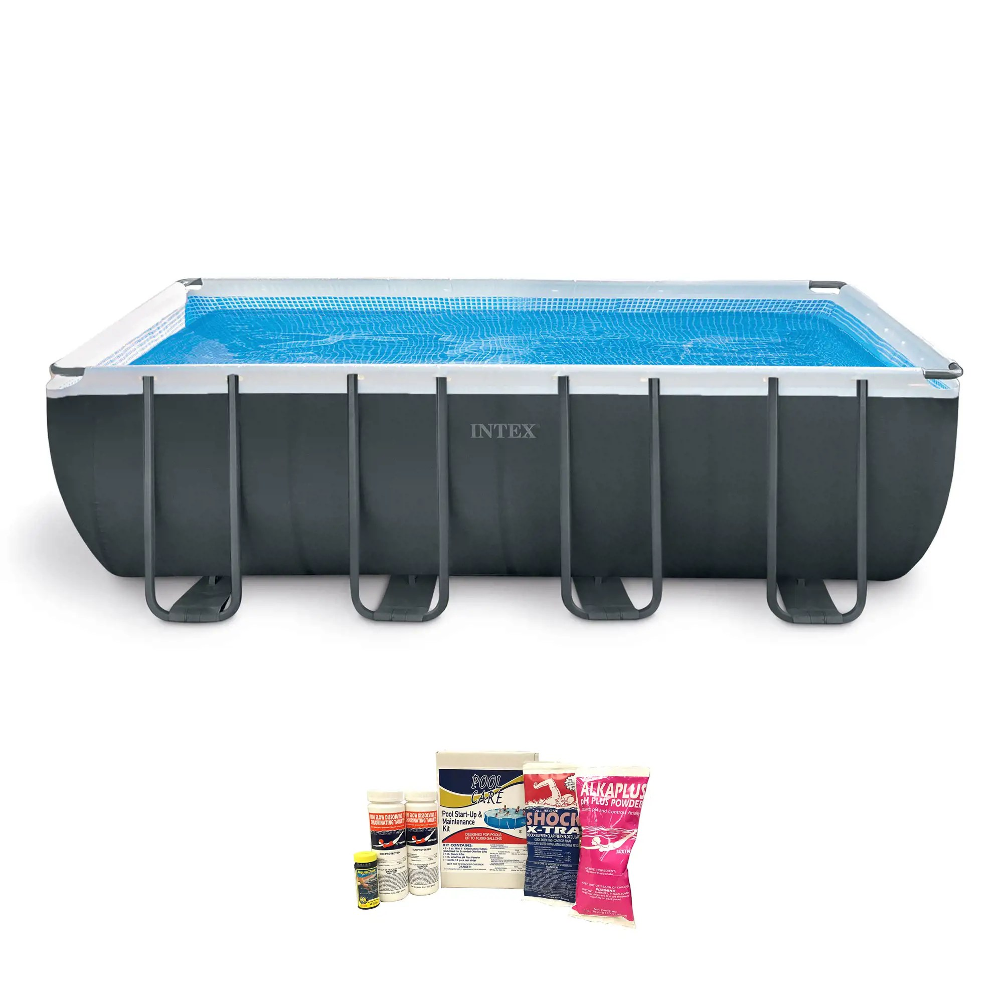 Intex Vs Bestway Review Intex Ultra 18 Foot Xtr Frame Pool W Pump Chemical Cleaning Kit