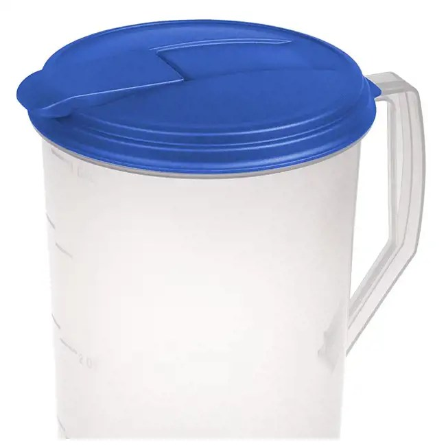 Sterilite 1 Gallon Round Pitcher Clear With Blue Lid