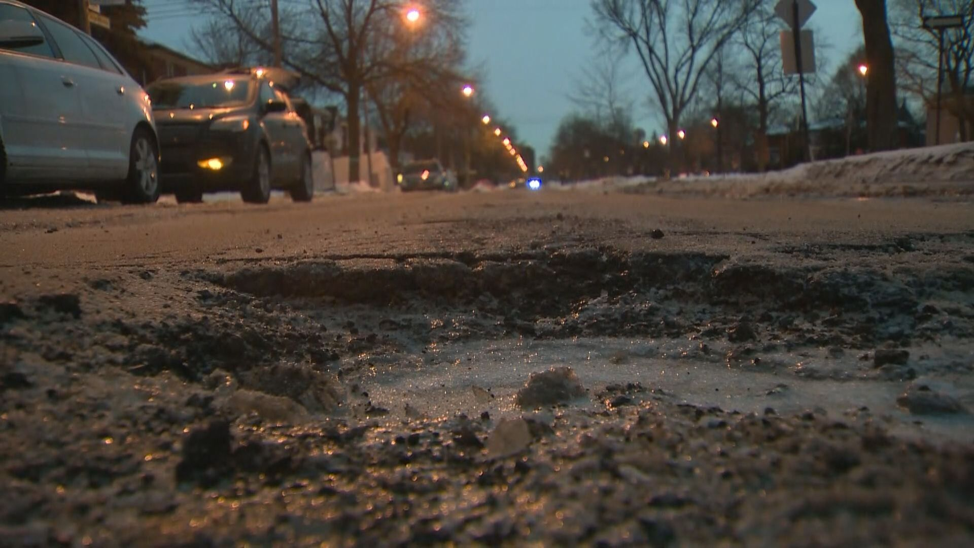 Montreal Weather Multiple Potholes Appearing As Montreal Weather Fluctuates