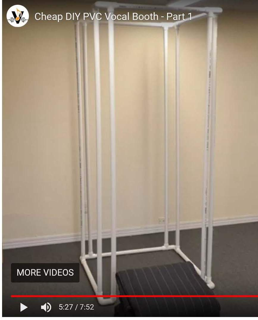 Diy Precut Pvc Vocal Booth Frame Kit Complete Set Just Add Glue Vocalboothtogo Com