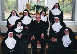Mother Mary Teresita and the Poor Clares in Palos Park with the late Francis Cardinal George