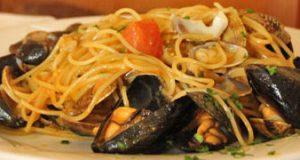 Espaguetis con mariscos