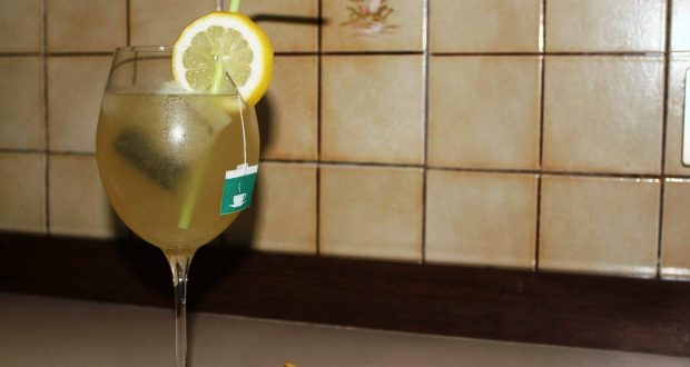 Limonada con té verde