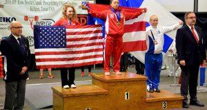 María Luisa Vásquez ganó medalla de oro en el Mundial de la Federación Internacional de Powerlifting celebrado en Texas.