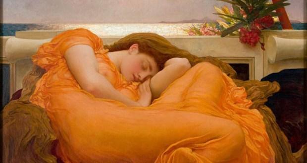 Flaming June es la obra maestra del pintor victoriano Frederic Leighton.