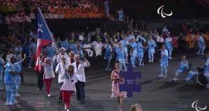 Desfile de la delegación de Puerto Rico en la apertura de los Juegos Paralímpicos.