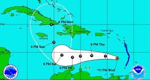 Imagen del radar. (Administración Nacional Oceánica y Atmosférica)