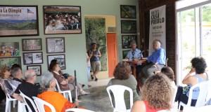 El ingeniero Alexis Massol y el escritor Eduardo Lalo sostuvieron un conversatorio sobre el papel de Casa Pueblo como ente unificador de la resistencia boricua contra la Junta federal de Control Fiscal, y como propulsor de una nueva sociedad. (Voces del Sur)