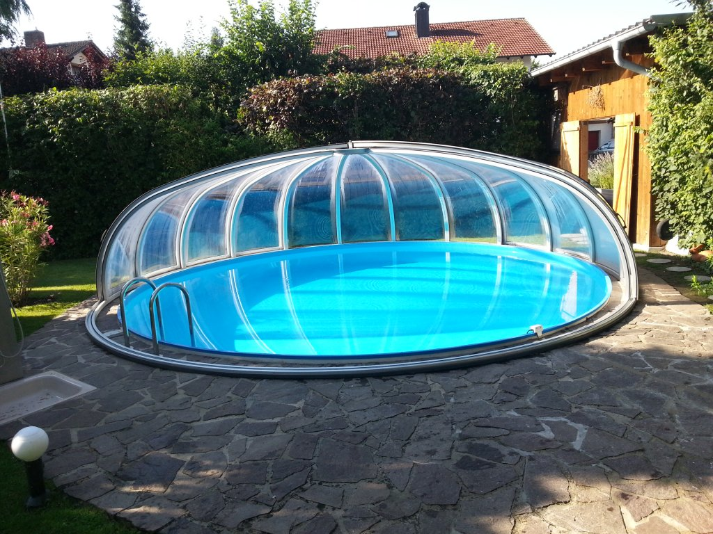 Gfk Pool Rund 3m Einbaupool Rund Awesome Beautiful Pool Rund Stahlwand Splash X Cm