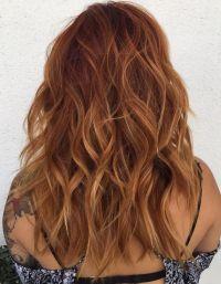 Meilleures ides du Coloration cheveux : Long Wavy Auburn ...