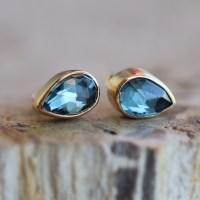 Jamie Joseph   London Blue Topaz Teardrop Stud Earrings at ...