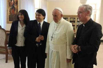 Father Peter Short with the Holy Father; Sept. 25. 2014