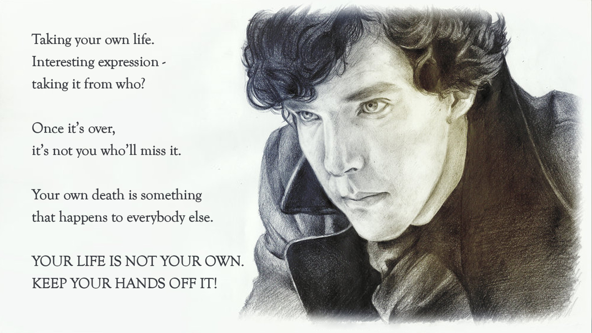 Sherlock Bbc Quotes Wallpaper Sherlock Most Catchy Quotes From Quot The Lying Detective
