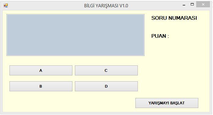 Bilgi Yarışması Örneği(C# ve SQL Server ile) \u2013 Volkan ALTINTAŞ