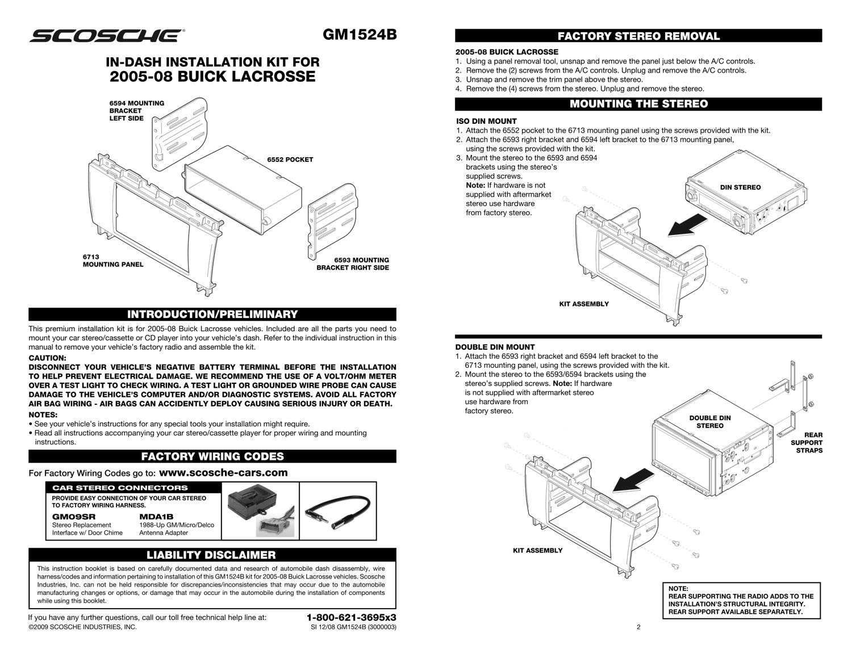 scosche wiring harness instructions