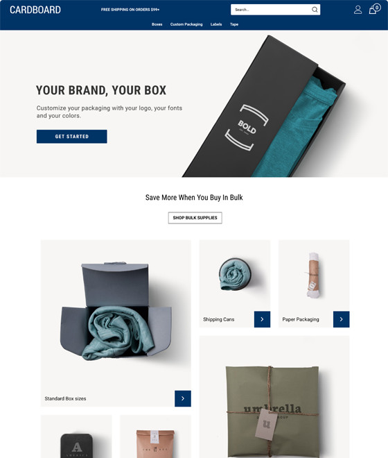 Cardboard Theme Responsive Ecommerce Template Volusion - volusion