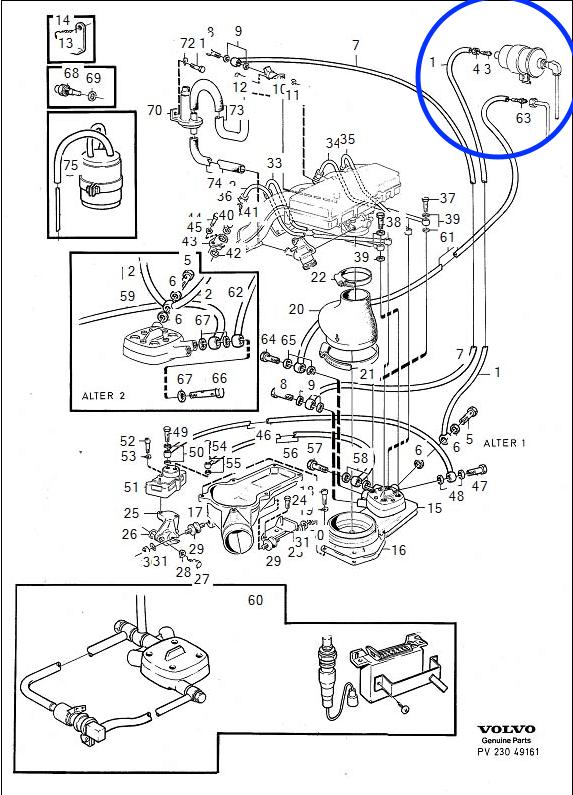 22re fuel filter orientation