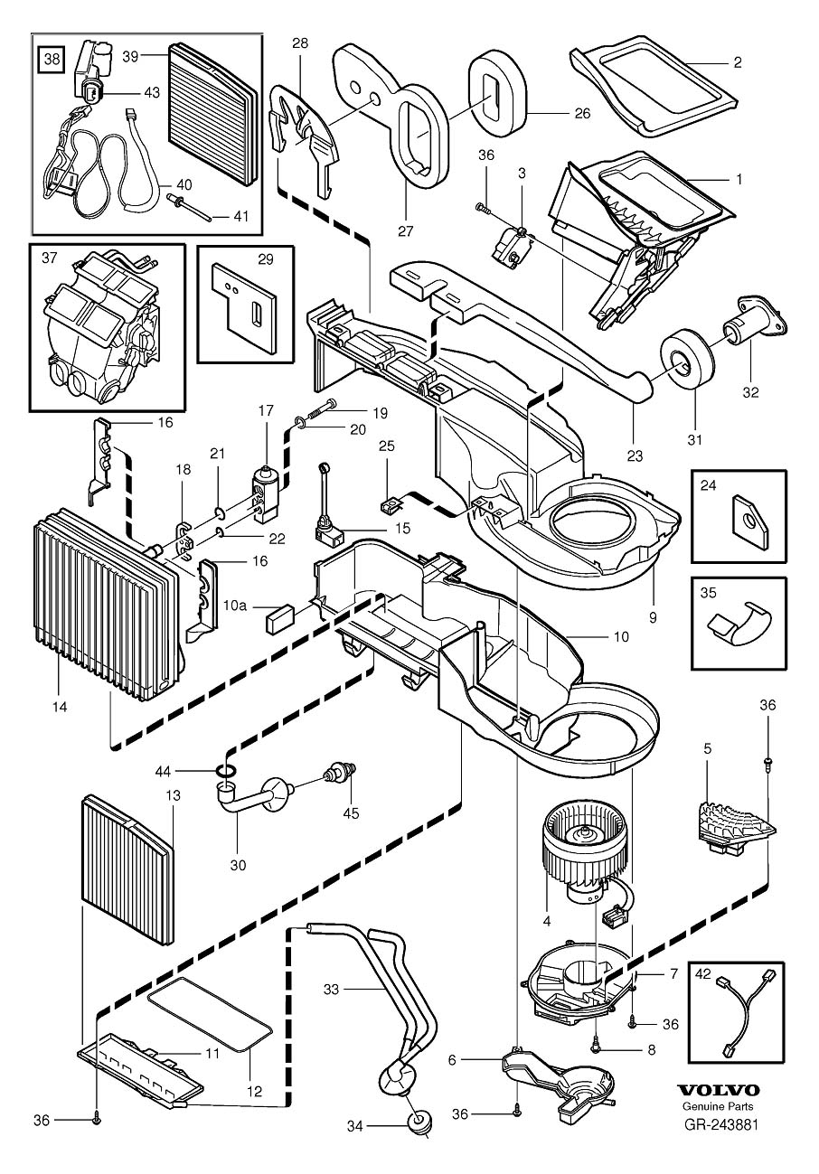 1998 volvo s70 engine compartment diagram