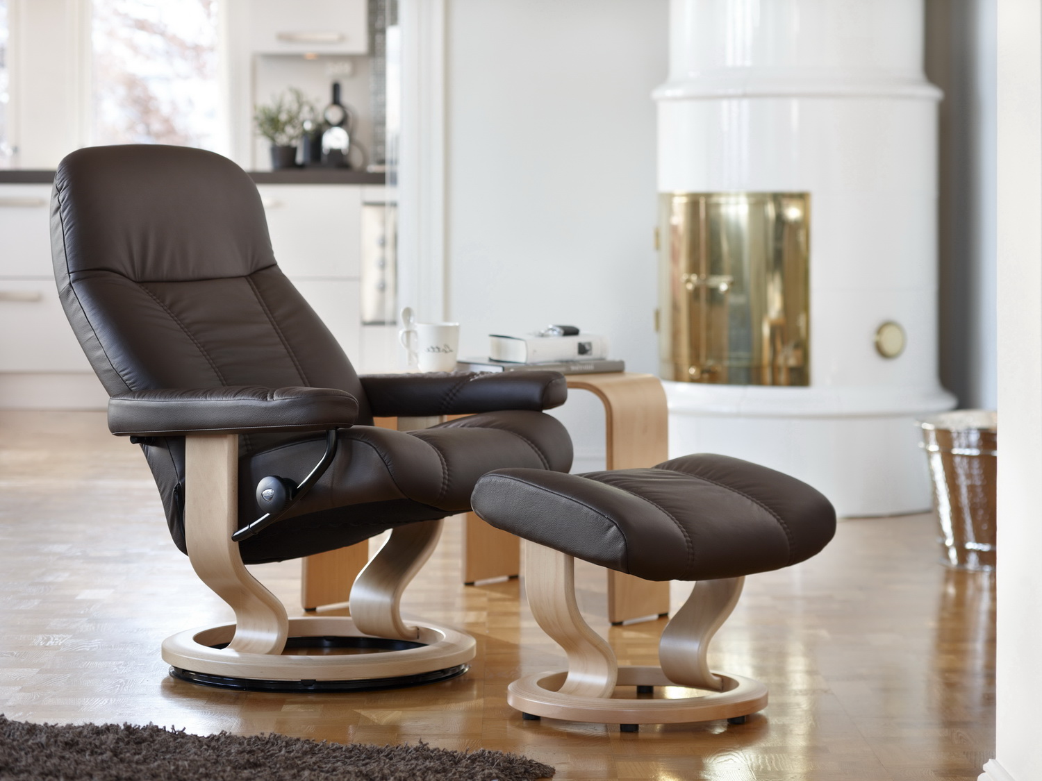 Stressless Lederfarben Stressless Consul Mit Hocker Small