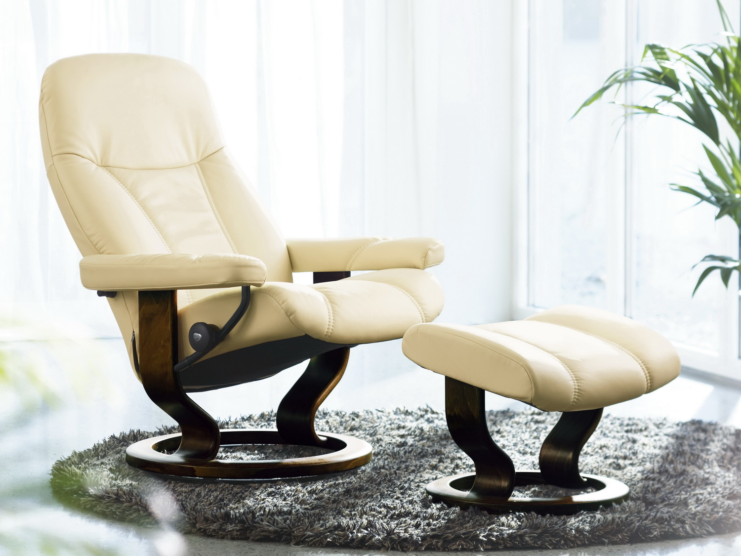 Stressless Sessel Paris High Back Stressless Consul Mit Hocker Large
