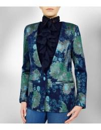 Scarf Suit Blazer - Blue / Green