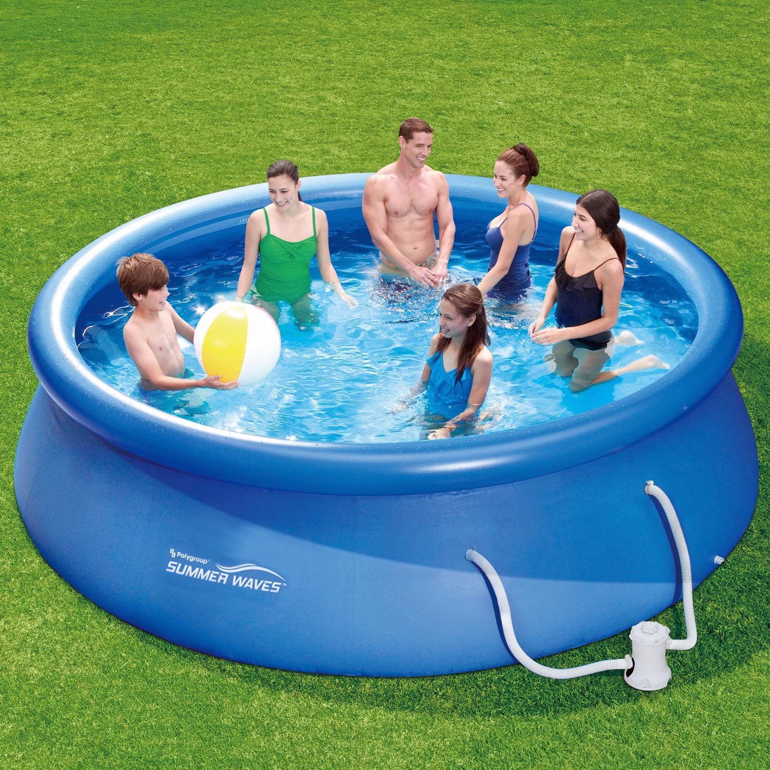 Abdeckplane Quick Up Pool Summer Waves Fast Set Quick Up Pool 43 Pumpe 305x76cm